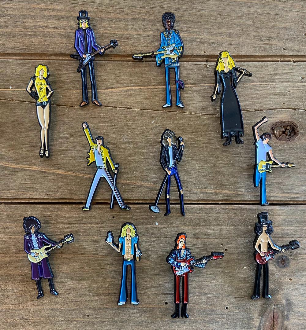 rock n roll pins