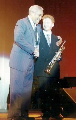 With Von Freeman at the Chicago Jazz Festival (1997)