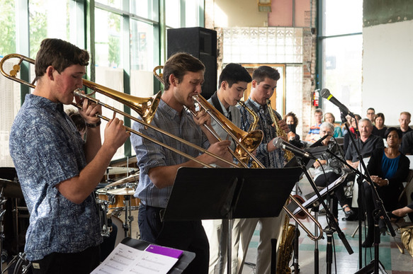 The Jazz Arts Messengers performing at the historic Rossonian hotel, September 30, 2018