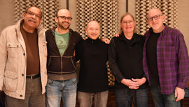 "Ernie Watts, Adrean Farrugia, Brad Goode, Kelly Sill, Adam Nussbaum. Recording Session for ""That's Right!"" (2018, Dallas TX)"