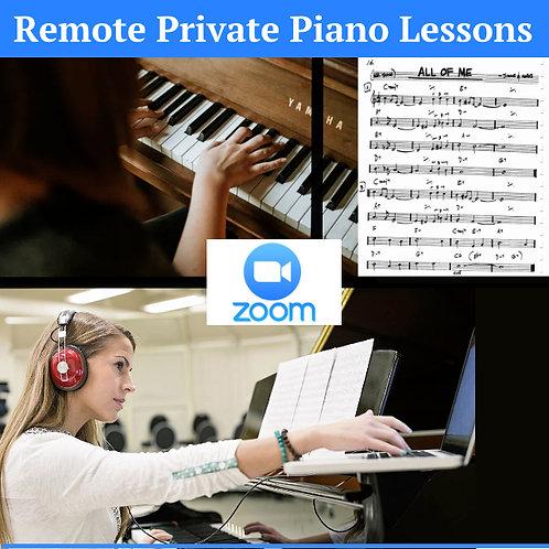 60 Minute Private Piano Lesson - Remote