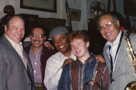 The Eddie Johnson Quintet - Rusty Jones, Eddie DeHaas, John Young, Brad Goode, Eddie Johnson. Moosehead Bar & Grill (Chicago, 1986)