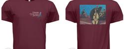 "Unisex Burgundy ""Jazz Trio"" Shirt"