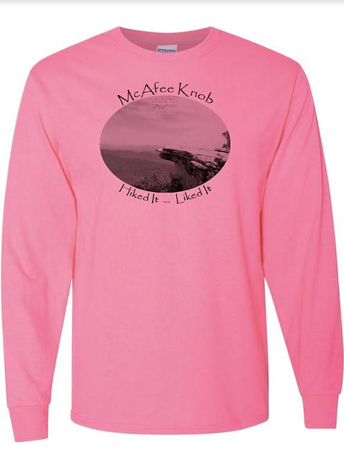 McAfee Knob - Azalea - LS Tee - 50/50 Poly Cotton