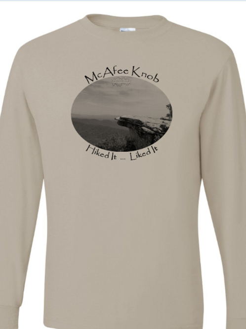McAfee Knob - Sandstone - LS Tee - 50/50 Poly Cotton