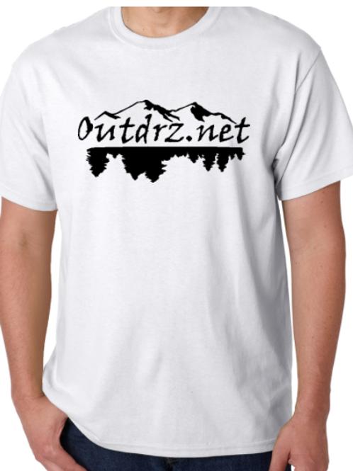 Outdrz Logo White T - 100% Cotton