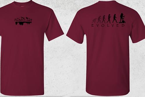 Evolve T Shirt - Garnet - 100% Cotton