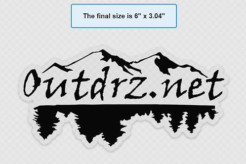 """6"""" X 3"""" Clear Sticker Outdrz Logo"""