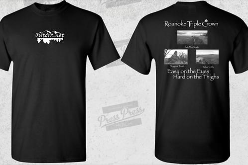 Triple Crown T Shirt - Black - 100% Cotton