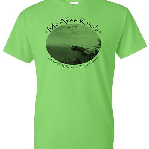 "McAfee Knob ""Jewel"" Lime - Moisture Wicking Tee"