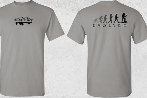 Evolve T Shirt - Gravel - 100% Cotton