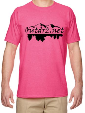 Outdrz Logo Pink T - 50/50 Poly Cotton