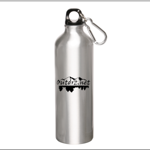 24oz Logo Aluminum Water Bottle with Carabiner