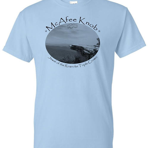 "McAfee Knob ""Jewel"" Light Blue - Moisture Wicking Tee"