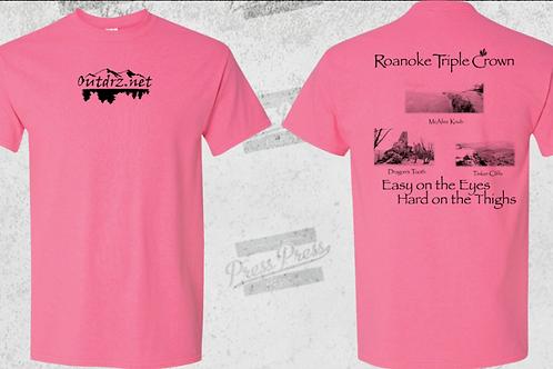 Triple Crown T Shirt Safety Pink- 50/50 Cotton/Poly
