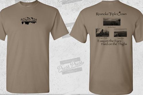 Triple Crown T Shirt - Savana - 100% Cotton