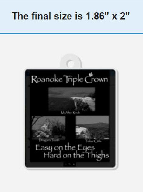Roanoke Triple Crown Keychain