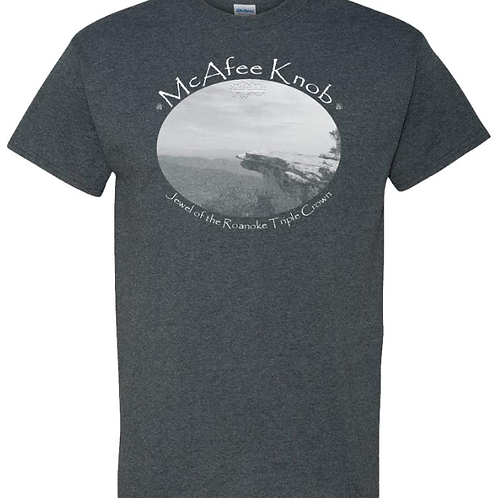 "McAfee Knob ""Jewel"" Dark Heather - Moisture Wicking Tee"