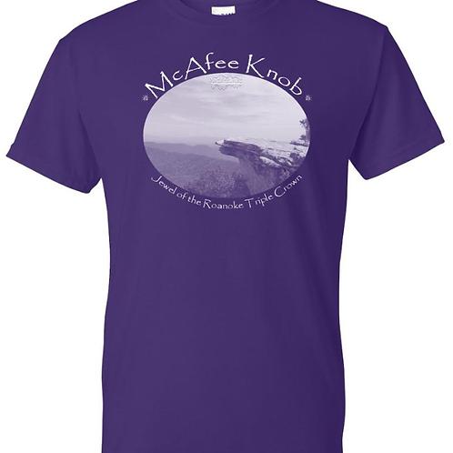 "McAfee Knob ""Jewel"" Purple - Moisture Wicking Tee"