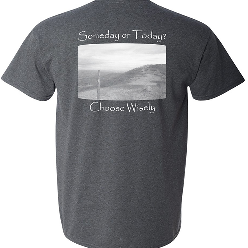 Choose Wisely Tweed T - 50/50 Poly Cotton