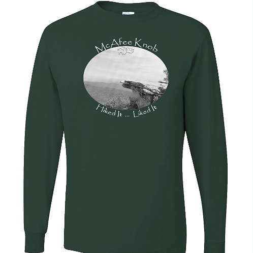 McAfee Knob - Forest Green - LS Tee - 50/50 Poly Cotton