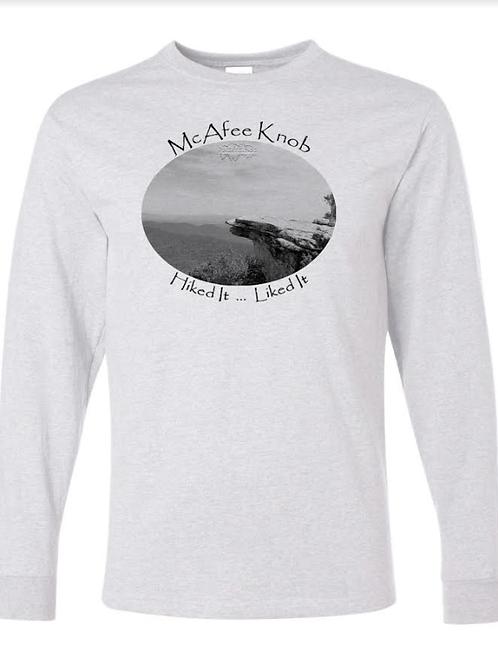McAfee Knob - Ash - LS Tee - 50/50 Poly Cotton