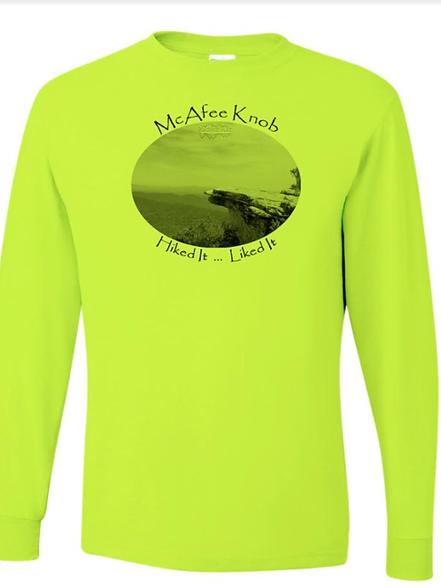 McAfee Knob - Safety Yellow LS Tee - 50/50 Poly Cotton