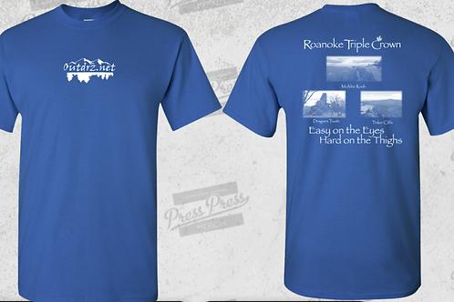 Triple Crown T Shirt - Royal - 100% Cotton