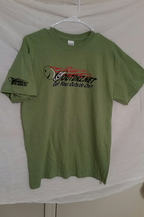 Forest Green Outdrz On Tee 100% Cotton