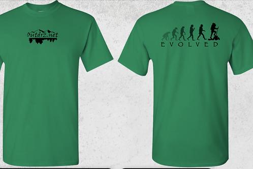 Evolve T Shirt - Turf Green - 100% Cotton