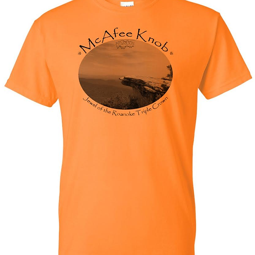 "McAfee Knob ""Jewel"" Tennessee Orange - Moisture Wicking Tee"