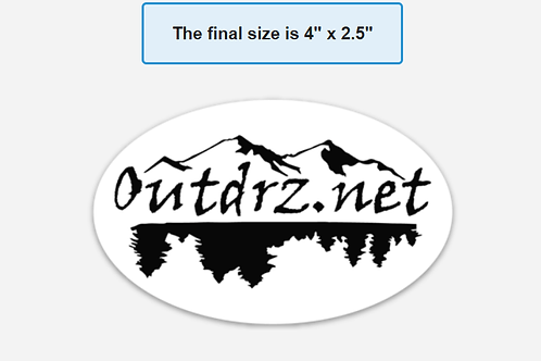 "4"" x 2.5"" Magnet - White Background Outdrz Logo"