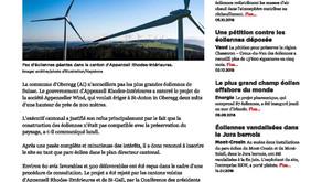 Le demi-canton d'Appenzell Rhodes Intérieures met un point final sur les éoliennes