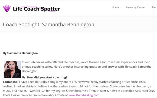 Life Coach Spotter | Coach Spotlight: Samantha Bennington