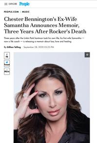 People Magazine: Chester Bennington's Ex-Wife Samantha Announces Memoir, Three Years After Rocker's Death