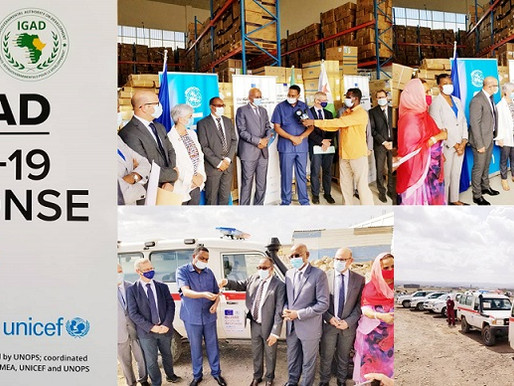 IGAD, EU and UNOPS to donate COVID-19 supplies