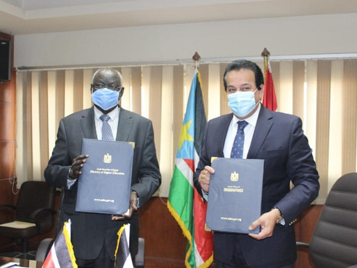South Sudan signs educational agreements with Egypt