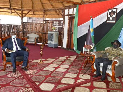 Central Equatoria governor briefs President Kiir on state development