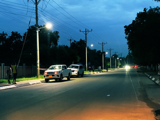 Street lighting returns to Juba