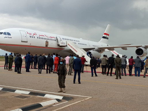 Egyptian President arrives in Juba for one day visit