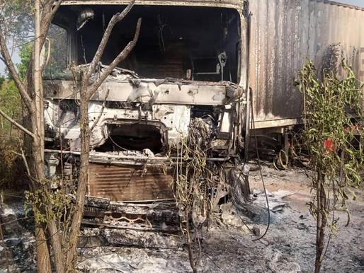 2 Trojan Company trucks burnt on Juba-Mundri road