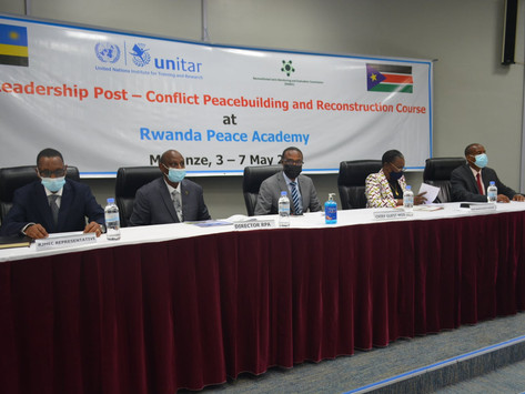 Defence Minister and officers attend Rwanda peace course