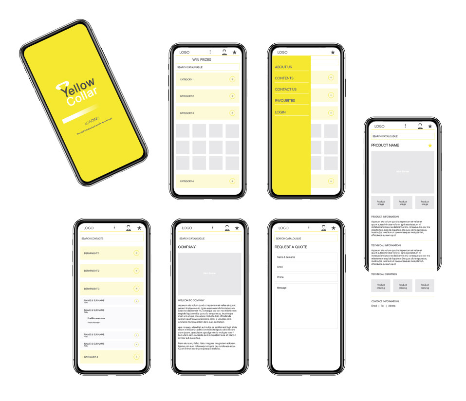 Yellow Collar Brochure App