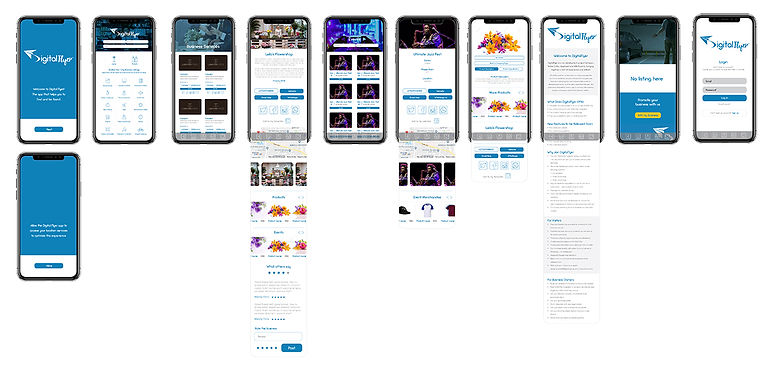 Digital Flyer App Wireframes