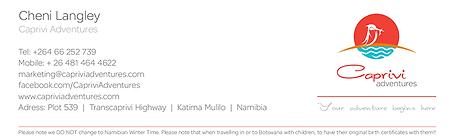 Caprivi Adventures Email signatures