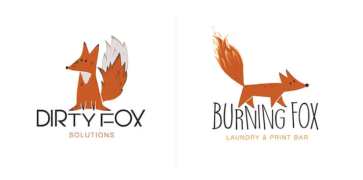 Burning Fox Logos