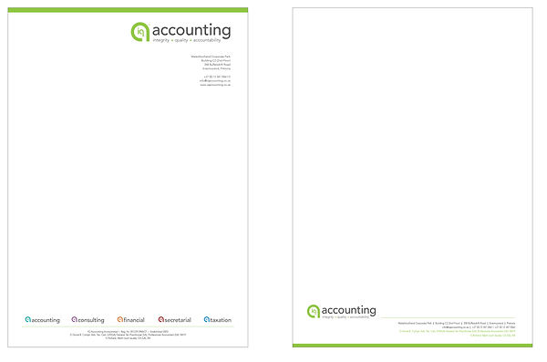 IQ Accounting Stationary