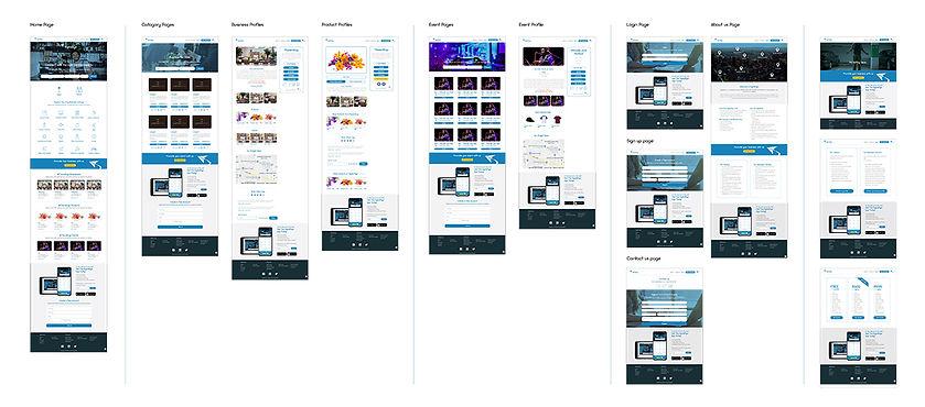 Digital Flyer Website Wireframes