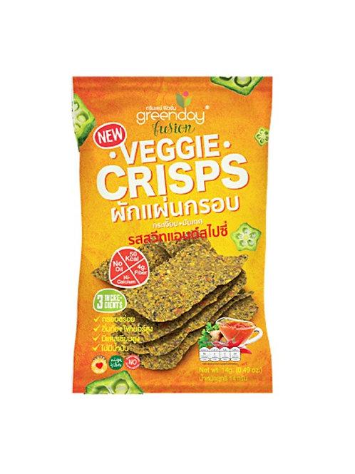 GREENDAY Veggie Crisp Sweet & Spicy 14g