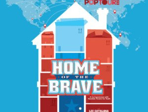 "Julia as an actor in the 2018 POP TOUR ""Home of the Brave"""